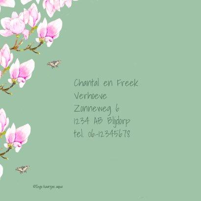 Uitnodigingskaart Bloemen tuinfeest 2