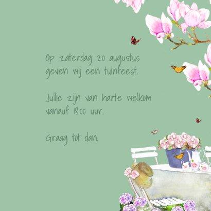 Uitnodigingskaart Bloemen tuinfeest 3
