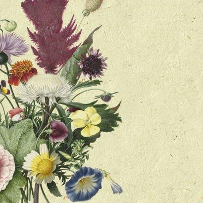 Uitnodigingskaart met stijlvolle bloemenillustratie en foto 2