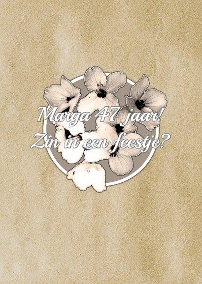 Uitnodigingskaart vintage bloem 2