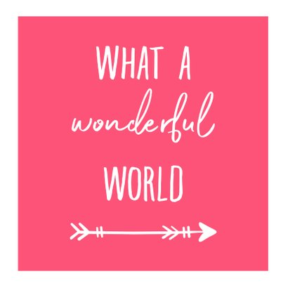 Vakantiekaart fotocollage 'Wonderful World' 2