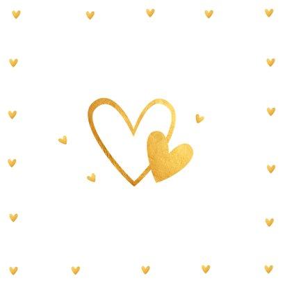 Valentijnskaart fotocollage hartjes goud 2