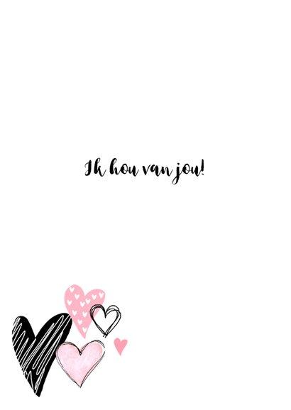 Valentijnskaart hartjes aquarel hip roze  2
