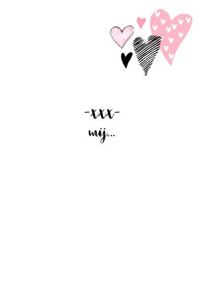 Valentijnskaart hartjes aquarel hip roze  3