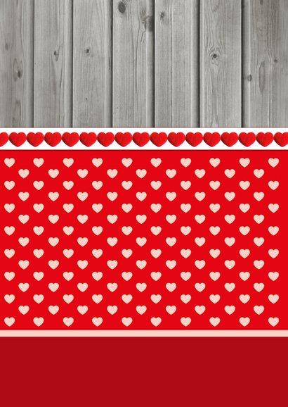 Valentijnskaart Hartjes Staand 2