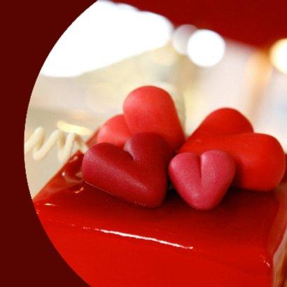 Valentijnskaart Lots of love Hartjes 2