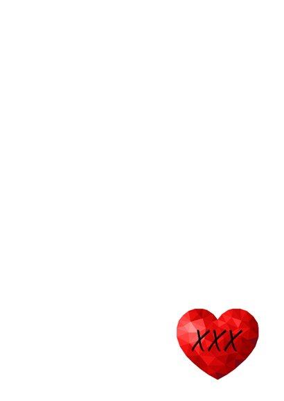 Valentijnskaart voor man met rood low poly hart 3