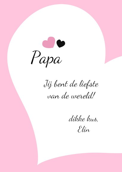 Valentijnskaart voor papa 3