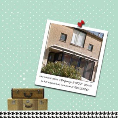 Verhuiskaart houten letterbak huis 2