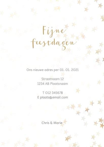 Verhuiskaart kerst staand met huisje - BK 3