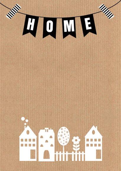 Verhuiskaart kraft huisjes 2