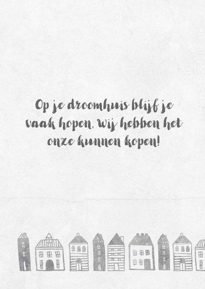 Verhuiskaart met geïllustreerde huisjes 2