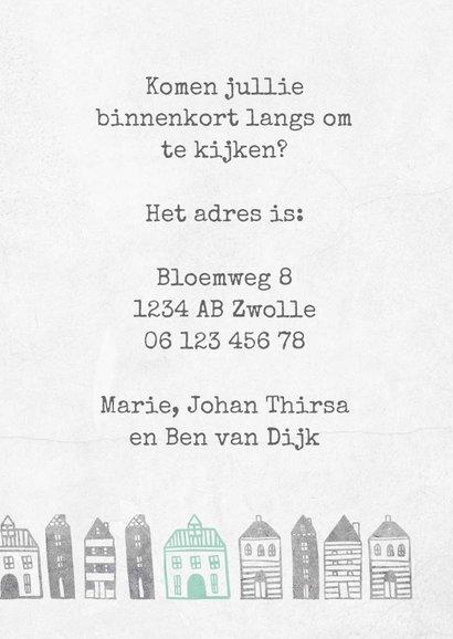 Verhuiskaart met geïllustreerde huisjes 3