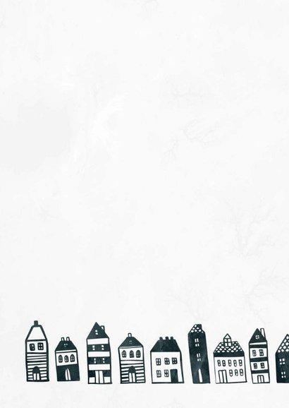Verhuiskaart 'Nieuw Begin' met huisjes 2
