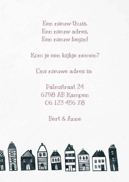 Verhuiskaart 'Nieuw Begin' met huisjes 3