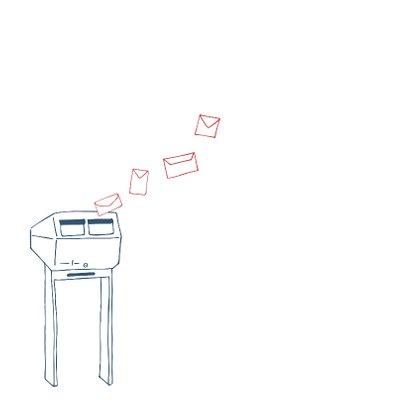 Verhuiskaart tekening brievenbus 2