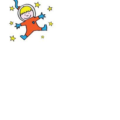 verjaardag - astronaut  - raket 3