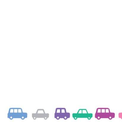 Verjaardag Autootjes Kaart 2