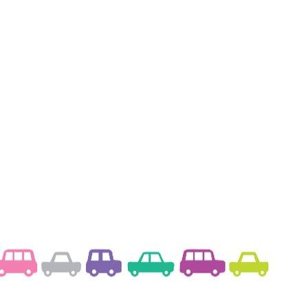 Verjaardag Autootjes Kaart 3