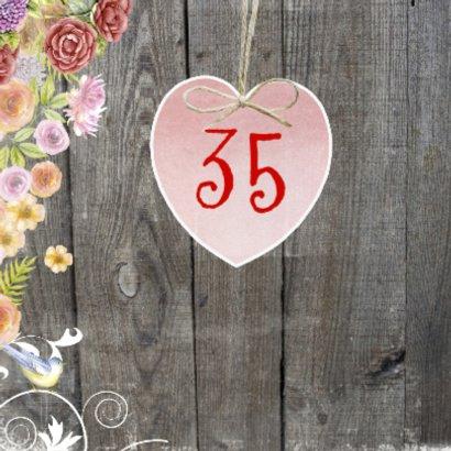 verjaardag hart bloemen 2