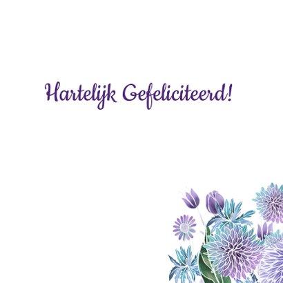 Verjaardag hart paarse bloemen 3