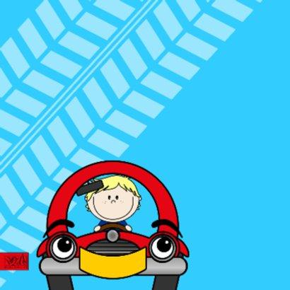 Verjaardag jongen in auto 2