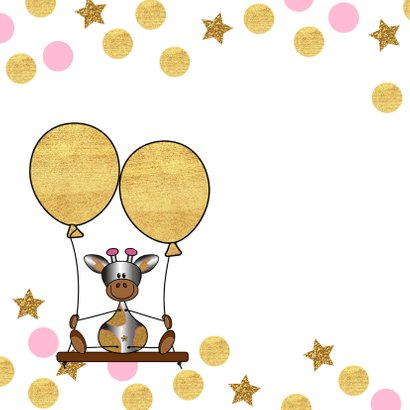 Verjaardag lief giraffe ballon 2