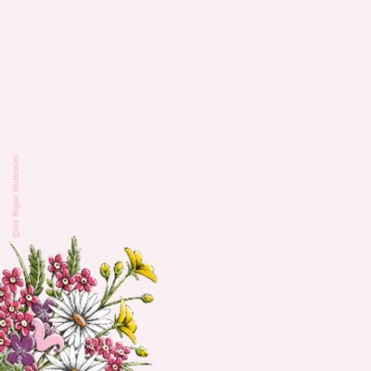 Verjaardag muis en bloemen - IH 2