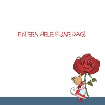 Verjaardag muis met roos - IH 3