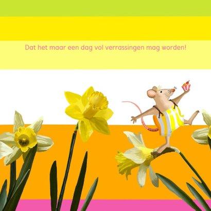 Verjaardag - Narcissen en muisjes 2