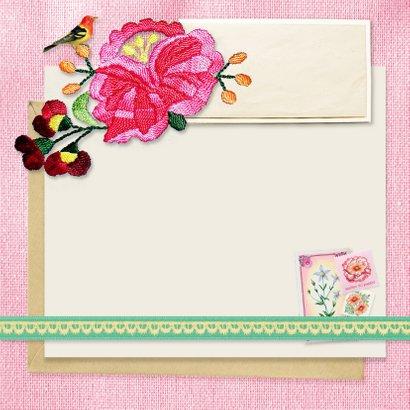 Verjaardag Roze vintage 3