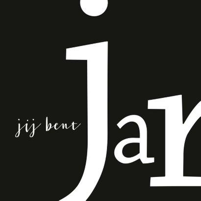 Verjaardag typografisch hoera 2
