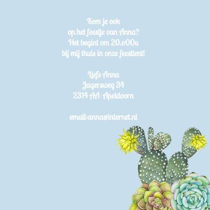 Verjaardag vetplant krans 3