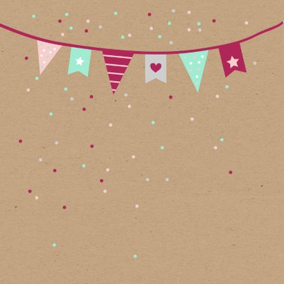 Verjaardag - Vlaggetjes en confetti 2