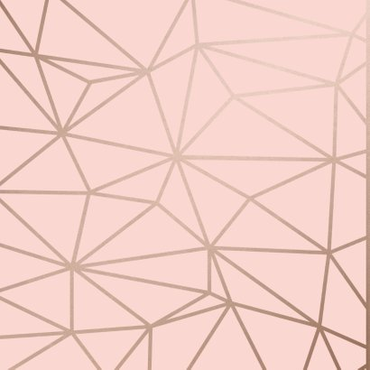 Verjaardagskaart Birthday Wishes geometrisch patroon roze 2