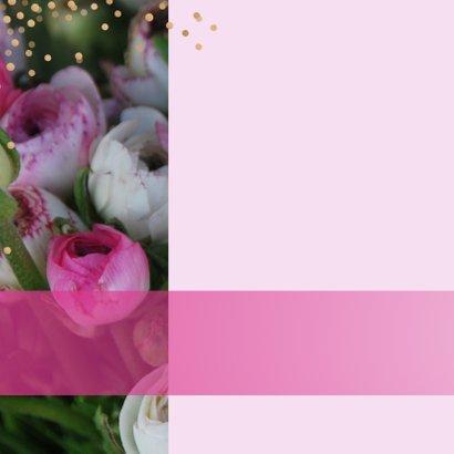 Verjaardagskaart bloem confetti 2