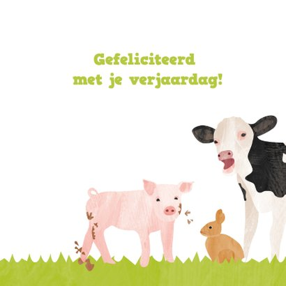 Verjaardagskaart boerderijdieren 3
