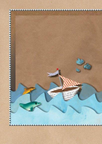 Verjaardagskaart Brown Paper Box Zee 2