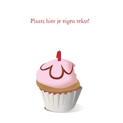 Verjaardagskaart Cupcake One 3
