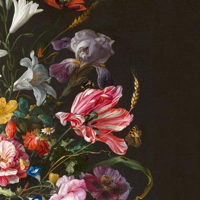 Verjaardagskaart en kleurrijke bloemenschilderij 2
