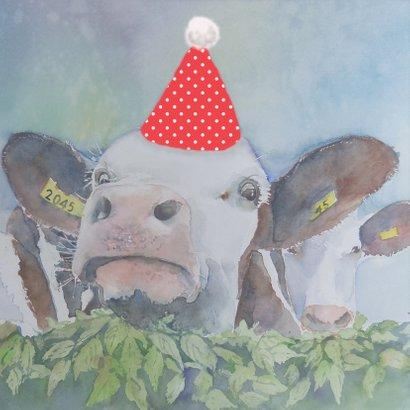 Verjaardagskaart Feest koe 2