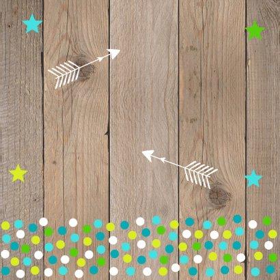Verjaardagskaart fotocollage jongen confetti 2