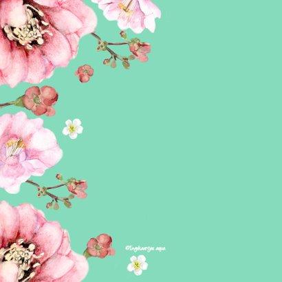 Verjaardagskaart Frisse bloemen 2