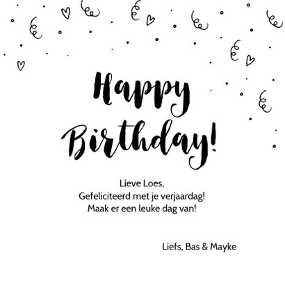 Verjaardagskaart - Hieper depiep Hoera 3