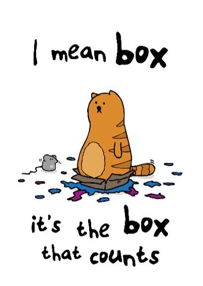 Verjaardagskaart It's the box 3