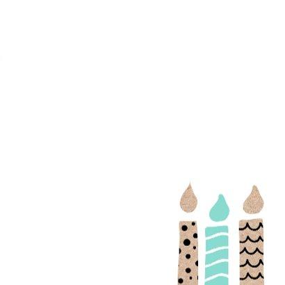 Verjaardagskaart kaarsjes 3