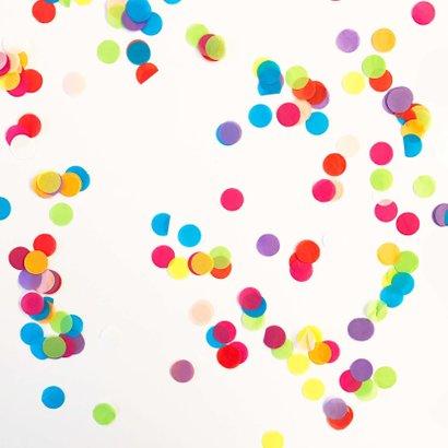 Verjaardagskaart  kleur confetti 2