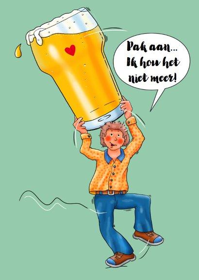 Verjaardagskaart man met groot glas bier 3