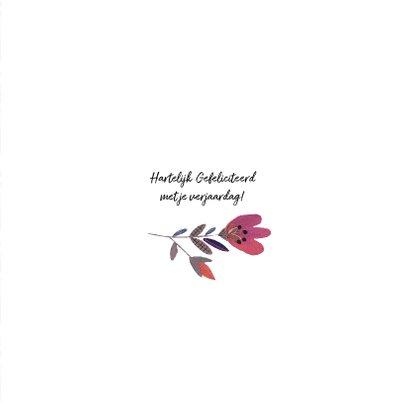 Verjaardagskaart met bloemen en zwanen 3