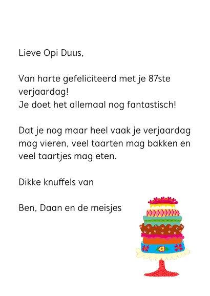 Verjaardagskaart Opi 87 3